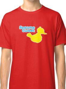 Sesame Tweet - Blue Text Classic T-Shirt