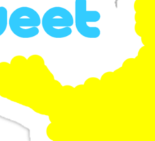 Sesame Tweet - Blue Text Sticker