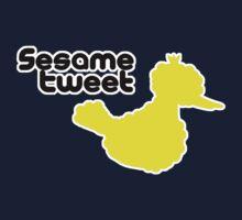Sesame Tweet - Black Text Kids Tee