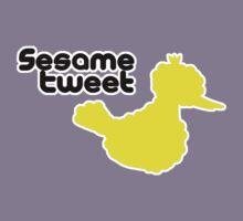 Sesame Tweet - Black Text Kids Clothes