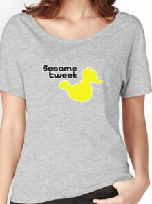 Sesame Tweet - Black Text Women's Relaxed Fit T-Shirt