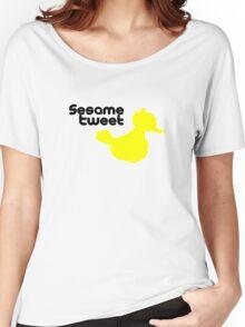 Sesame Tweet - Black Text Women's Relaxed Fit T-Shirt