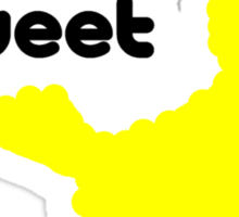 Sesame Tweet - Black Text Sticker