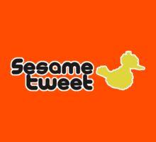 Sesame Tweet - Black Text V.2 Kids Tee