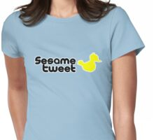 Sesame Tweet - Black Text V.2 Womens Fitted T-Shirt
