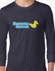 Sesame Tweet - Blue Text V.2 Long Sleeve T-Shirt