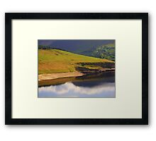 Reflection, by the lake Framed Print