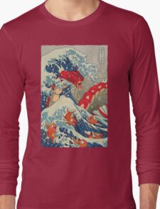 The Great Red Wave Long Sleeve T-Shirt