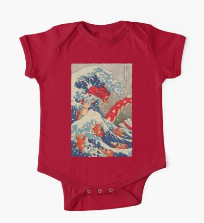The Great Red Wave One Piece - Short Sleeve