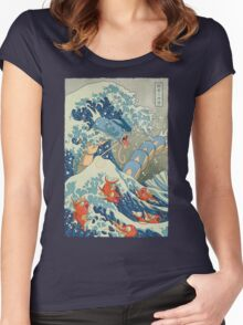 The Great Wave Women's Fitted Scoop T-Shirt