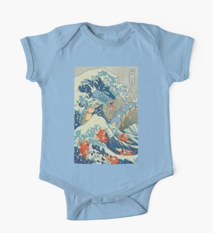 The Great Wave One Piece - Short Sleeve