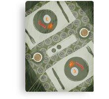 Breakfast for Two Canvas Print