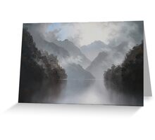 Under the Mist Beauty Lies Waiting Greeting Card