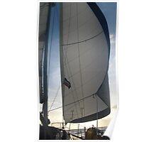 Sunset Sailing The Atlantic Poster
