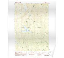 USGS Topo Map Oregon Wapinitia Pass 282011 1985 24000 Poster