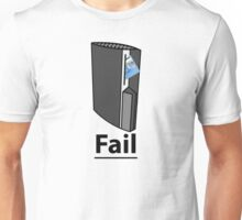 PS3 Fail, A playstation eating your credit card, comedy gamer design. Unisex T-Shirt