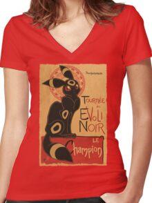 Noir Women's Fitted V-Neck T-Shirt