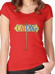 CATDOG Women's Fitted Scoop T-Shirt