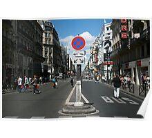 Rue de Rivoli in Paris Poster
