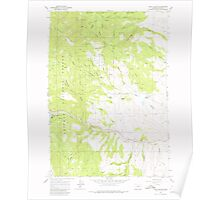 USGS Topo Map Oregon Blue Canyon 279067 1967 24000 Poster