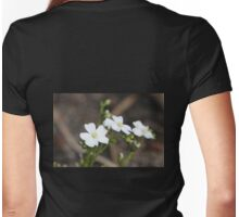 White Sundew Womens Fitted T-Shirt