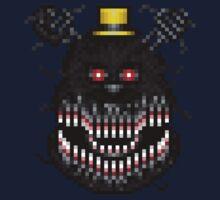 Five Nights at Freddys 4 - Nightmare! - Pixel art Kids Tee