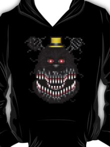 Five Nights at Freddys 4 - Nightmare! - Pixel art T-Shirt