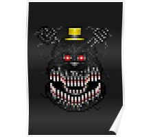 Five Nights at Freddys 4 - Nightmare! - Pixel art Poster