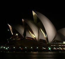Sydney Opera House at Night by Sharon Brown
