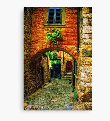 Streets of Tuscany Canvas Print