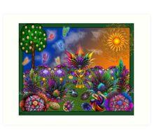 Apo Rainbow Garden Art Print