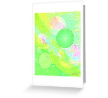 Lime Puff Greeting Card