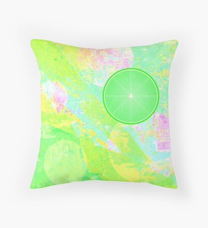 Lime Puff Throw Pillow