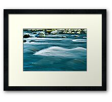 Flowing Blues Framed Print