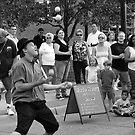 Street Juggler, Detroit, Michigan by Usha Ganesh