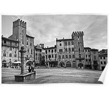 Arezzo B&W Poster
