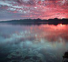 Sunset at midnight by Frank Olsen