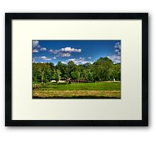Across the Battle Grounds Framed Print