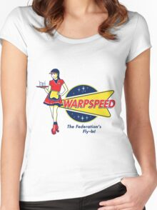 Warpspeed Federation Fly-In Women's Fitted Scoop T-Shirt
