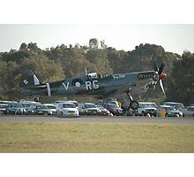 Spitfire Landing @ Williamtown Airshow 2010 Photographic Print