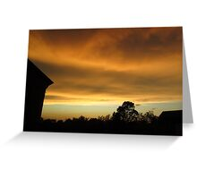 Stormy Sky at Sunset Greeting Card