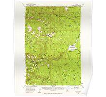 USGS Topo Map Oregon High Rock 282578 1956 62500 Poster