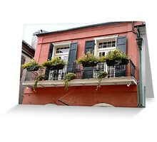 Flower Boxes- French Quarter, New Orleans, Louisiana Greeting Card