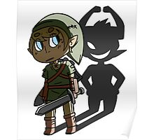 Lonk and Minda - LoZ Twilight Princess Poster
