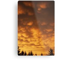 Creepy Clouds Metal Print