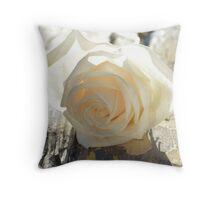 White Rose Sun Throw Pillow