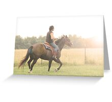 his free spirit rides the wind into his fate Greeting Card