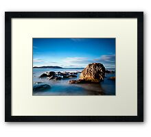 Palm Beach Rock Carving Framed Print