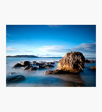 Palm Beach Rock Carving Photographic Print