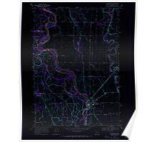 USGS Topo Map Oregon Harrisburg 280152 1969 24000 Inverted Poster